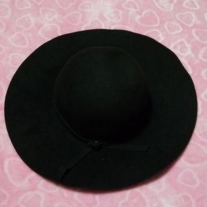 Jet black, 100% Polyester, One Size, Floppy Hat